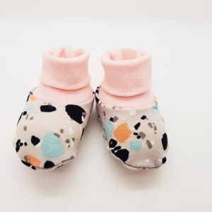 grey splashes baby booties 1