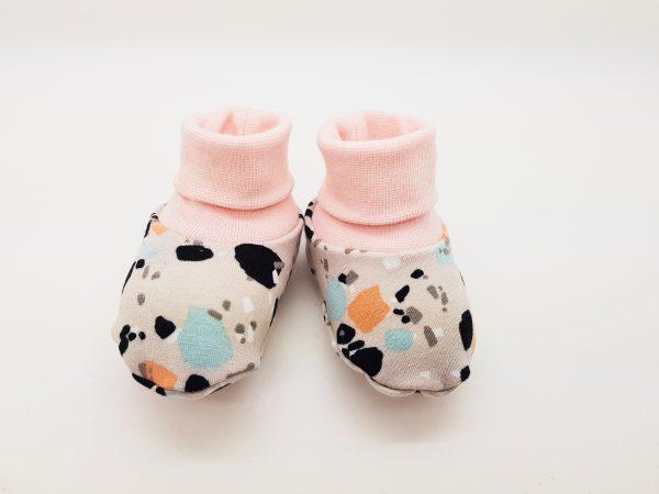 grey splashes baby booties 1