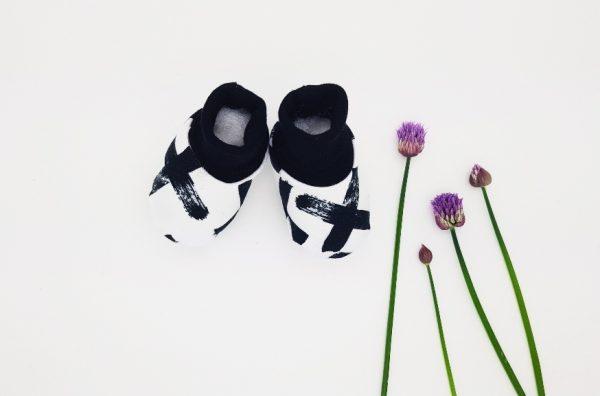 mono crosses baby booties main