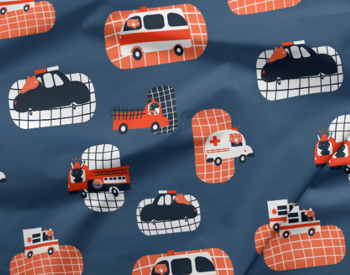 Fire engine fabric