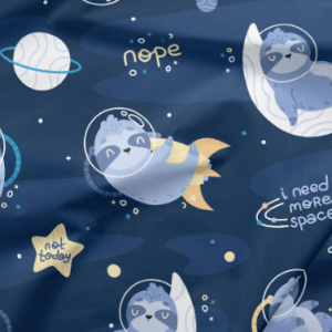 space sloth fabric