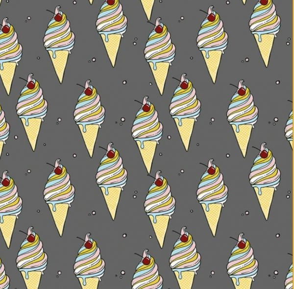 grey ice cream fabric