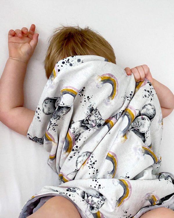 Rainbow Animal Blanket