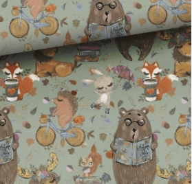 woodland creature fabric