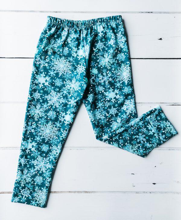 snowflakes leggings