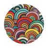retro rainbow fabric