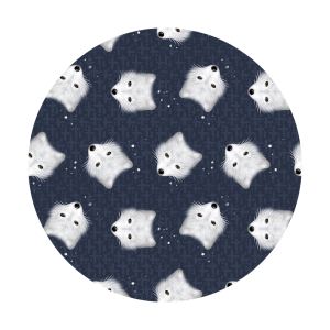 arctic fox fabric