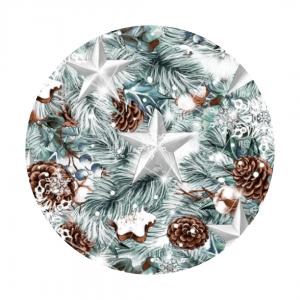 winter stars fabric