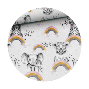 rainbow animal fabric