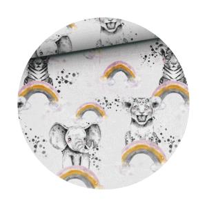 rainbow animal fabric