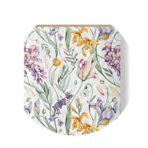 white flowers fabric