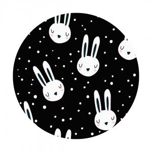 mono bunnies fabric